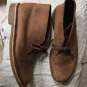 Men's Clark leather Chukka boots